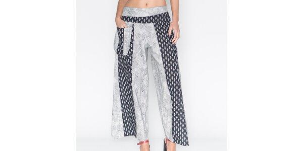 Dámské široké kalhoty s potiskem Mahal