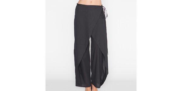 Dámské černé volné kalhoty Mahal