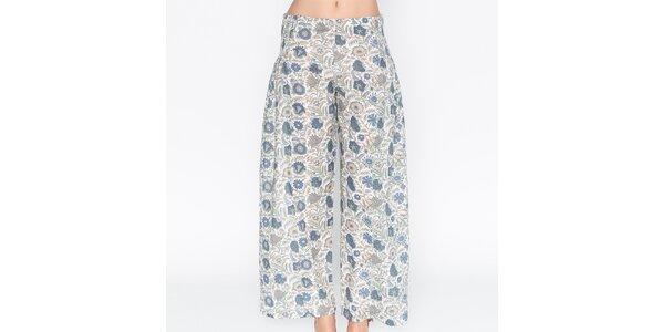 Dámské volné kalhoty s květinovým potiskem Mahal