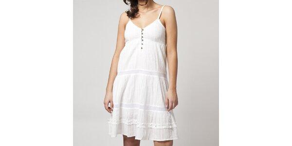 Dámské bílé šaty na ramínka Mahal