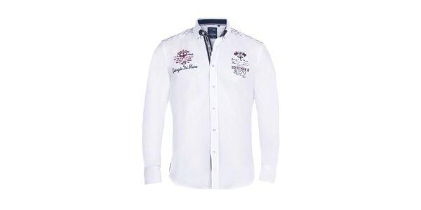 Pánská bílá košile s vlajkou Giorgio di Mare