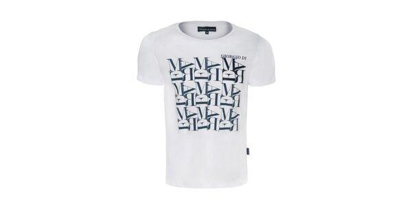 Pánské bílé tričko s potiskem Giorgio di Mare