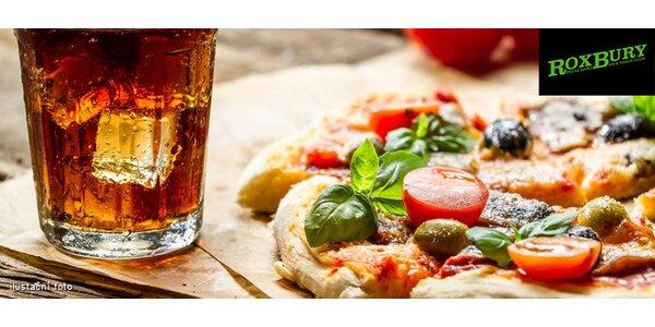1 nebo 2 pizzy s nápojem dle výběru v Roxbury
