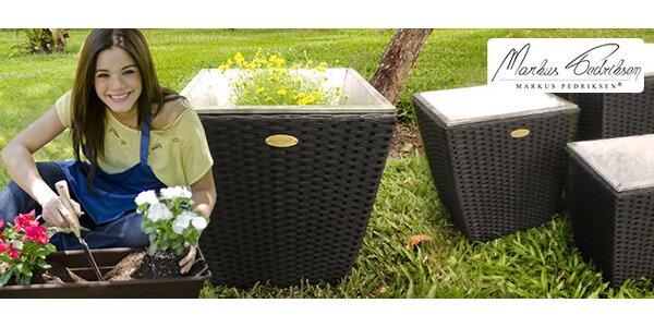 Nový model květináčů z umělého ratanu (Anastacio)