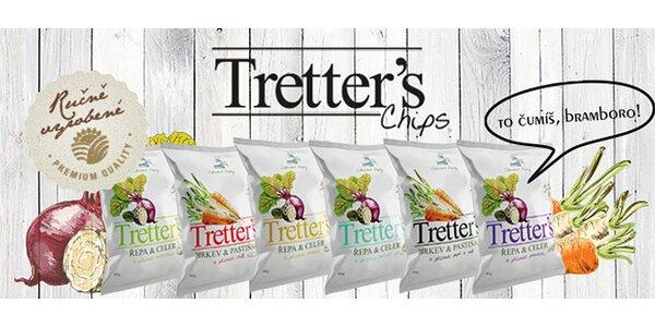 12 nebo 24 balíčků Tretter's Chips