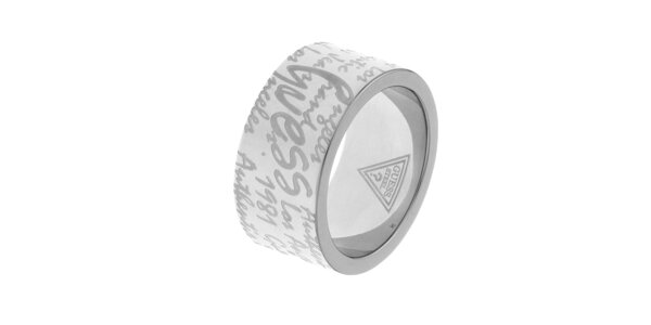 Dámský ocelový prsten Guess s rytinou