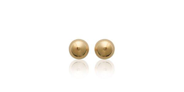 Dámské zlacené perličkové náušnice s puzetkou La Mimossa