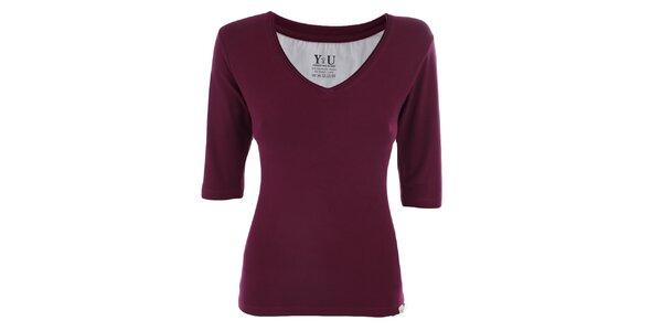 Dámské ostružinové tričko s véčkovým výstřihem YU Feelwear