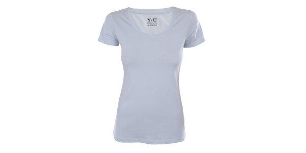 Dámské světle modré tričko s krátkým rukávem YU Feelwear