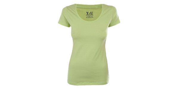 Dámské limetkové tričko s krátkým rukávem YU Feelwear