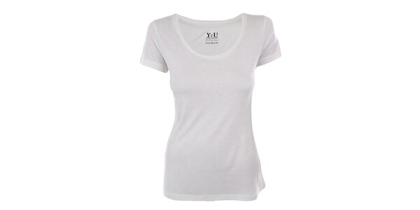 Dámské bílé tričko s krátkým rukávem YU Feelwear