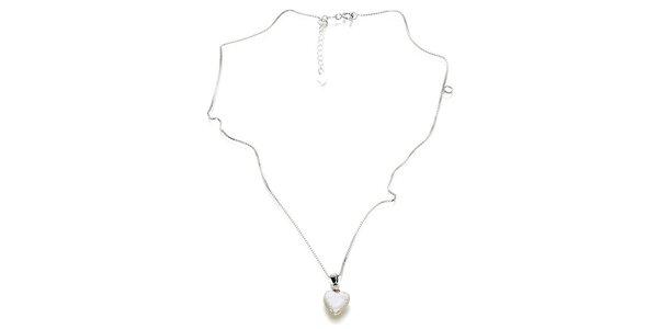 Dámský řetízek Orchira s bílým perlovým přívěskem