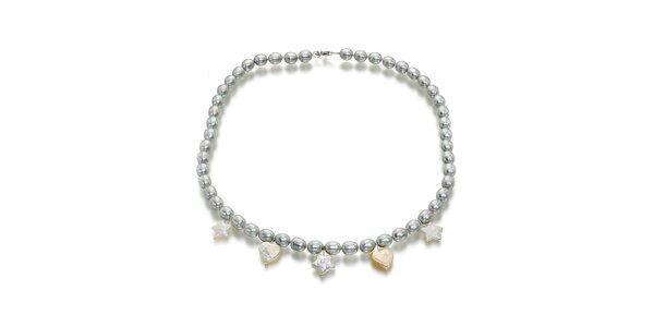 Dámský perlový náhrdelník Orchira s přívěsky