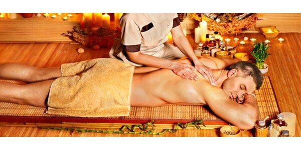 Thajská masáž zad, šíje a hlavy thajským balzámem spojená s pobytem v solné…