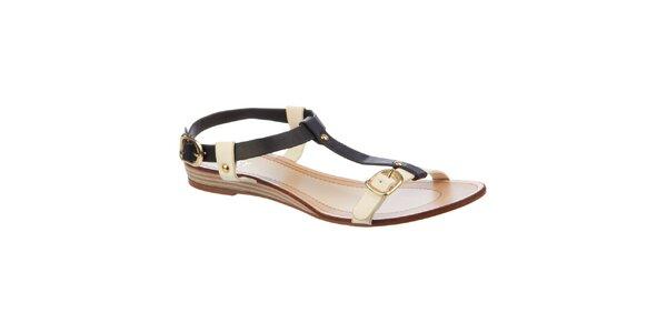 Dámské černo-krémové sandálky Betsy
