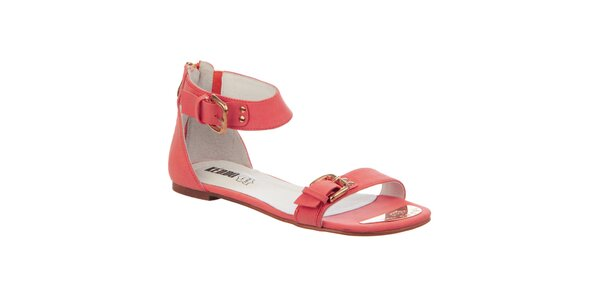 Dámské korálové sandálky s přezkami Keddo