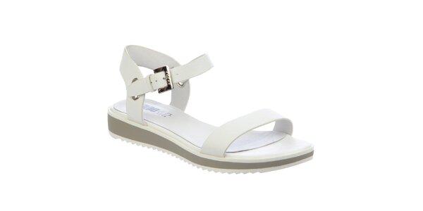 Dámské bílé sandálky s přezkou Keddo