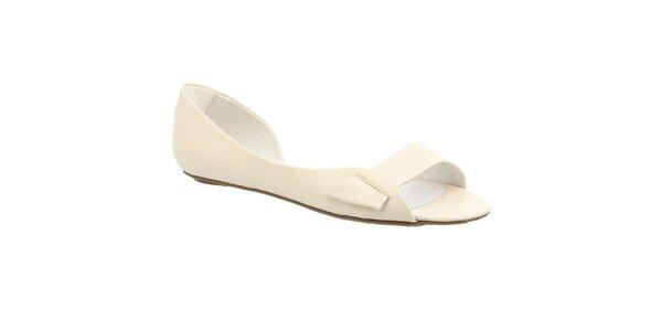 Dámské krémově bílé sandálky s otevřenou špičkou Keddo