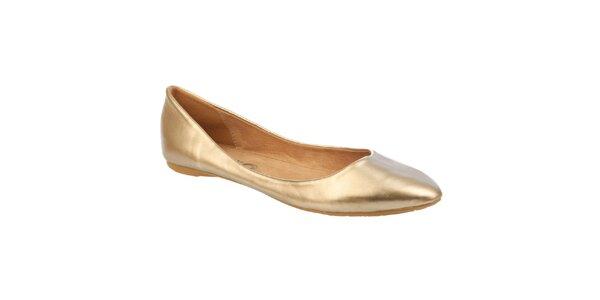 Dámské zlaté balerínky Betsy