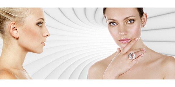 Kosmetické ošetření pleti kyselinou hyaluronovou a barvení obočí