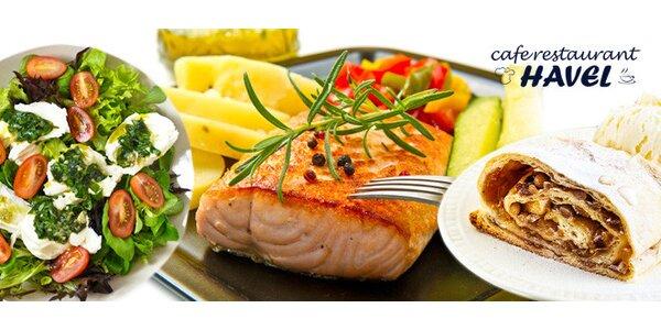 Svěží lehké letní menu s lososem pro dva
