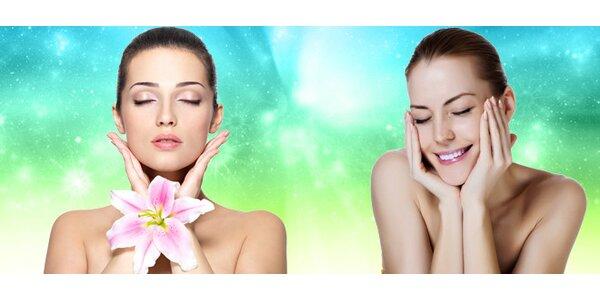 Kosmetické ošetření pleti obličeje a dekoltu ultrazvukem a trvalá na řasy
