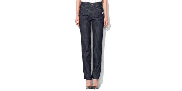 Dámské modré džíny s širším pasem Roccobarocco