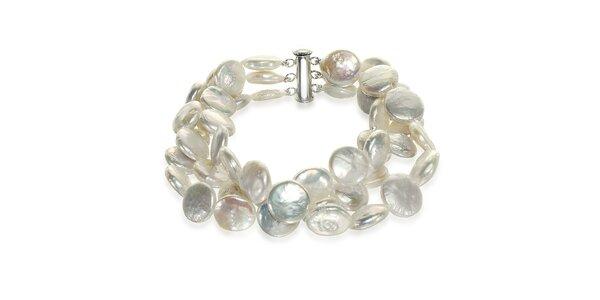 Bílý perlový náramek Orchira