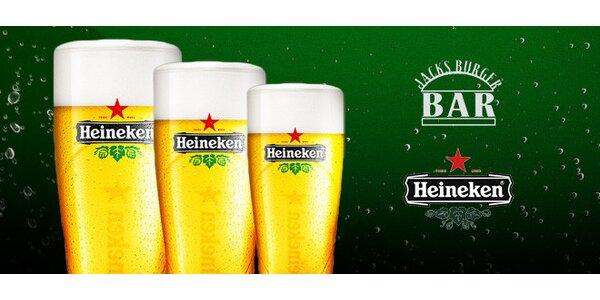 3x0,5l Heinekenu v Jack's Burger Baru