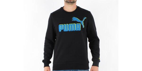 Pánská černá mikina Puma s velkým logem