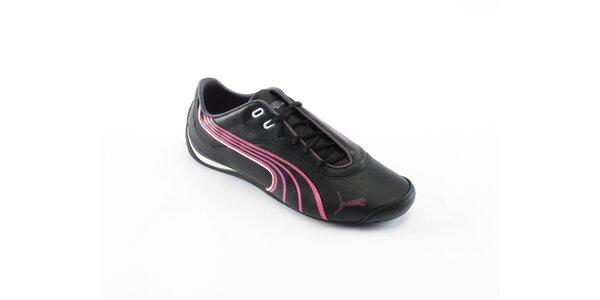 Dámské černé tenisky Puma s růžovými detaily