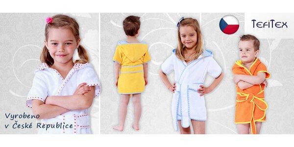 Měkoučké dětské župany inspirované Řeckem
