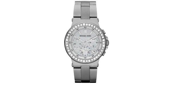Dámské hodinky s perleťovým ciferníkem a stříbrným tónováním Michael Kors