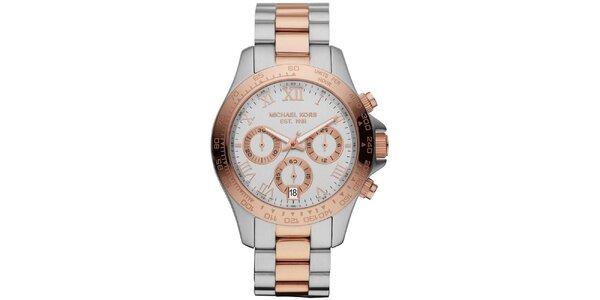 Dámské hodinky z dvoubarevné ušlechtilé oceli s chronografem Michael Kors