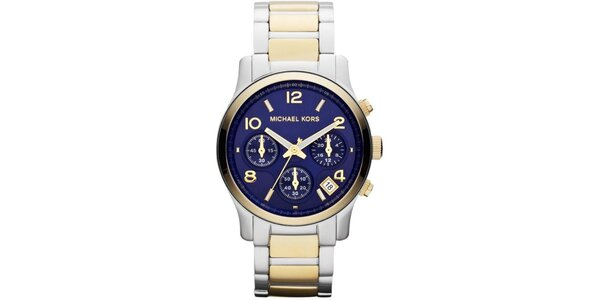 Dámské analogové hodinky s modrým ciferníkem Michael Kors