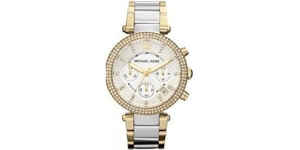Dámské hodinky z ušlechtilé oceli se zirkony Michael Kors