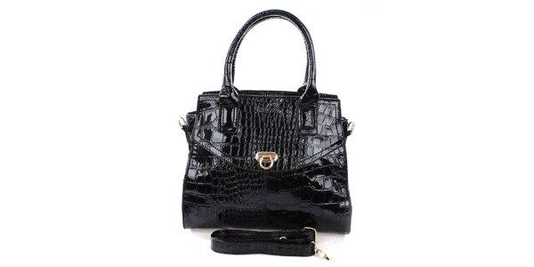 Dámská černá kabelka s popruhem Mercucio