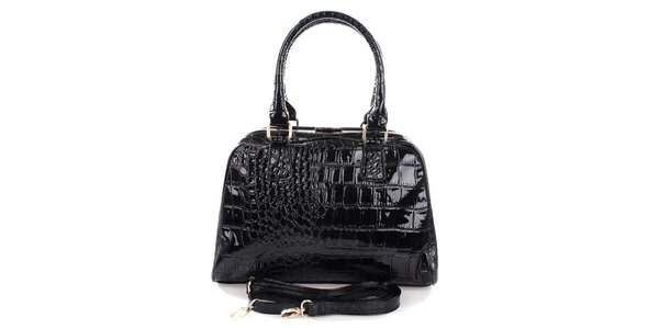 Dámská černá kufříková kabelka Mercucio