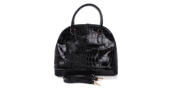 Dámská černá kabelka v lesklém provedení Mercucio