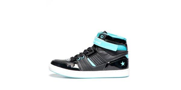 Dámské černé kotníkové boty s tyrkysovými detaily Big Star