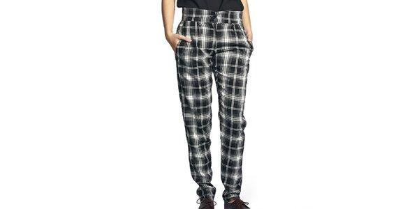 Dámské černo-bíle kostkované kalhoty Liquorish