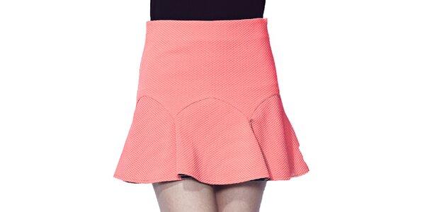 Dámská korálově růžová krátká sukně Liquorish