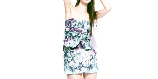 Dámské barevné šaty bez ramínek Liquorish