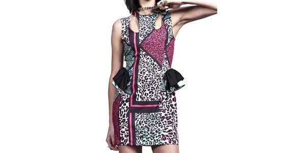 Dámské šaty s barevným potiskem Liquorish