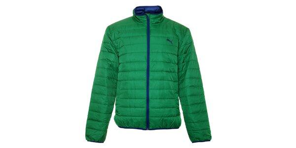 Pánská zelená zimní prošívaná bunda Puma
