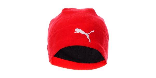 Červená fleecová čepice Puma