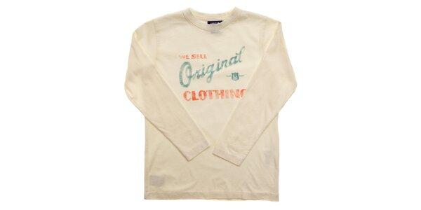 Dětské krémové tričko Gant s potiskem