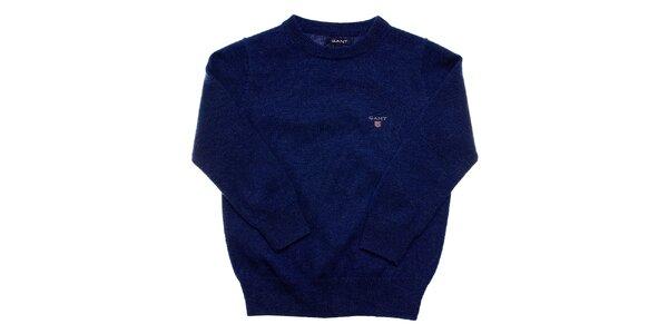 Dětský tmavě modrý vlněný svetr Gant