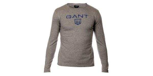 Dětské světle šedé tričko Gant s potiskem