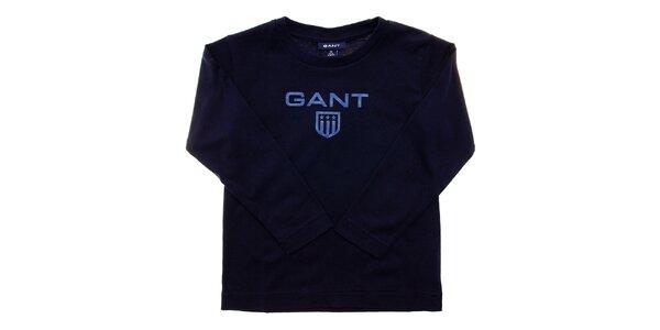 Dětské tmavě modré tričko Gant s potiskem